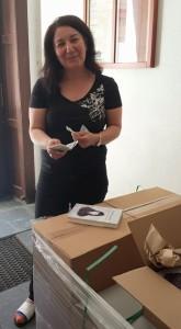 Leyla köper min första bok